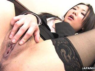 Japanese girl in nylon  drains