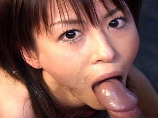Horny Japanese Ai Himeno gives a perfect blowjob