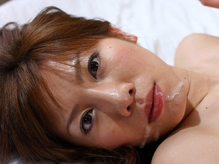 Big-titted Aki Yatou gets cum in hatch after orgy